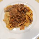 Wild roebuck ragù Pappardelle pasta
